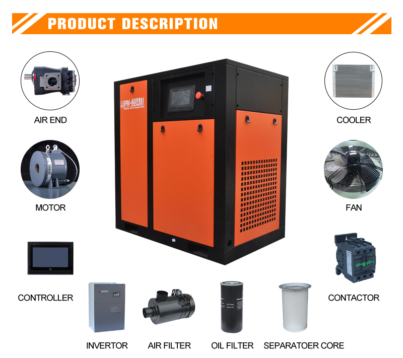 22kw PM VSD screw air compressor(图1)